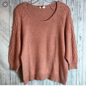 Anthropologie Coral Moth Knit Sweater